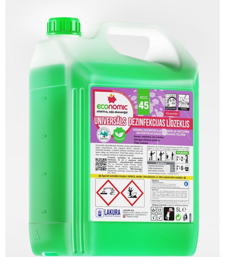 ECO 45. Universāls dezinfekcijas līdzeklis.